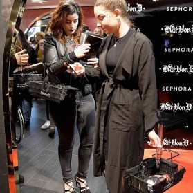PARIS, FRANCE - JANUARY 23: (L-R) Beauty influencers Elsamakeup and Clara Channel attend the Kat Von D Beauty opening weekend with influencers at Sephora Champs-Elysees on January 23, 2017 in Paris, France. (Photo by Dominique Charriau/Getty Images for Sephora) *** Local Caption *** Elsamakeup; ClaraChannel
