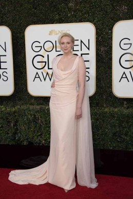 Gwendoline Christie arrives to the 74th Annual Golden Globe Awards held at the Beverly Hilton Hotel on January 8, 2017.