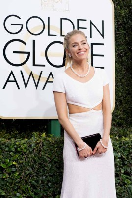 Sienna Miller attends the 74th Annual Golden Globes Awards at the Beverly Hilton in Beverly Hills, CA on Sunday, January 8, 2017.