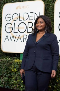 """Nominated for BEST PERFORMANCE BY AN ACTRESS IN A SUPPORTING ROLE IN A MOTION PICTURE for her role in """"Hidden Figures,"""" actress Octavia Spencer attends the 74th Annual Golden Globes Awards at the Beverly Hilton in Beverly Hills, CA on Sunday, January 8, 2017."""