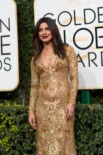 Priyanka Chopra attends the 74th Annual Golden Globe Awards at the Beverly Hilton in Beverly Hills, CA on Sunday, January 8, 2017.