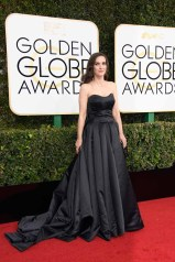 """Nominated for BEST PERFORMANCE BY AN ACTRESS IN A TELEVISION SERIES – DRAMA for her role in """"Stranger Things,"""" actress Winona Ryder attends the 74th Annual Golden Globes Awards at the Beverly Hilton in Beverly Hills, CA on Sunday, January 8, 2017."""
