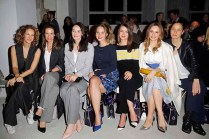 BERLIN, GERMANY - JANUARY 18: (L-R) Chiara Schoras, Alexandra Neldel, Maria Ehrich, Sonja Gerhardt, Alice Dwyer, Mina Tander and Jeanette Hain attend the Laurel show during the Mercedes-Benz Fashion Week Berlin A/W 2017 at Kaufhaus Jandorf on January 18, 2017 in Berlin, Germany. (Photo by Isa Foltin/Getty Images for Laurel) *** Local Caption *** Chiara Schoras;Alexandra Neldel;Maria Ehrich;Sonja Gerhardt;Alice Dwyer;Mina Tander;Jeanette Hain