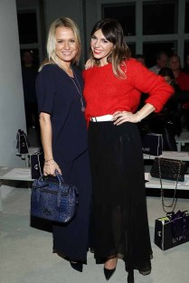 BERLIN, GERMANY - JANUARY 18: (L-R) Nova Meierhenrich and Anna Angelina Wolfers attend the Laurel show during the Mercedes-Benz Fashion Week Berlin A/W 2017 at Kaufhaus Jandorf on January 18, 2017 in Berlin, Germany. (Photo by Brian Dowling/Getty Images for Laurel) *** Local Caption *** Nova Meierhenrich;Anna Angelina Wolfers