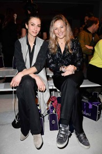 BERLIN, GERMANY - JANUARY 18: (L-R) Laura de Boer and Carolin Dekeyser attend the Laurel show during the Mercedes-Benz Fashion Week Berlin A/W 2017 at Kaufhaus Jandorf on January 18, 2017 in Berlin, Germany. (Photo by Matthias Nareyek/Getty Images for Laurel) *** Local Caption *** Laura de Boer;Carolin Dekeyser