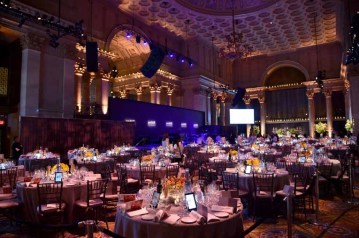 NEW YORK, NY - FEBRUARY 08: A general view of the interior of the ballroom as Moet & Chandon Toasts to the amfAR New York Gala At Cipriani Wall Street at Cipriani Wall Street on February 8, 2017 in New York City. (Photo by Bryan Bedder/Getty Images for Moet & Chandon)
