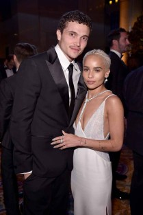 NEW YORK, NY - FEBRUARY 08: Actor Karl Glusman and Model Zoe Kravitz attend as Moet & Chandon Toasts to the amfAR New York Gala At Cipriani Wall Street at Cipriani Wall Street on February 8, 2017 in New York City. (Photo by Bryan Bedder/Getty Images for Moet & Chandon) *** Local Caption *** Karl Glusman, Zoe Kravitz