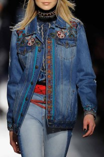 A model walks the runway at the Desigual show New York Fashion Week The Shows at Gallery 1, Skylight Clarkson Sq on February 9, 2017 in New York City.