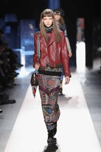 DESIGUAL_NYFW_AW17_ATWALK_LOOK 21..NEW YORK, NY - FEBRUARY 09:A model walks the runway at the Desigual show New York Fashion Week The Shows at Gallery 1, Skylight Clarkson Sq on February 9, 2017 in New York City.