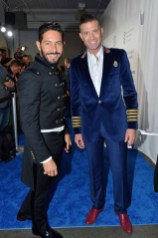 Gustavo Moscoso, Omar Sharif Jr== The Blue Jacket Fashion Show to Benefit the Prostate Cancer Foundation== Pier 59 Studios, NYC== February 1, 2017== ©Patrick McMullan== photo - Patrick McMullan/PMC== == Omar Sharif Jr