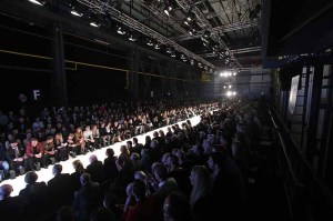 DUESSELDORF, GERMANY - JANUARY 28: A general view of the runway of the Annette Goertz show during Platform Fashion January 2017 at Areal Boehler on January 28, 2017 in Duesseldorf, Germany. (Photo by Florian Ebener/Getty Images for Platform Fashion)