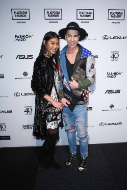 DUESSELDORF, GERMANY - JANUARY 29: Model Anuthida Ploypetch and Maximilian Seitz attend the Fashionyard show during Platform Fashion January 2017 at Areal Boehler on January 29, 2017 in Duesseldorf, Germany. (Photo by Mathis Wienand/Getty Images for Platform Fashion) *** Local Caption *** Anuthida Ploypetch, Maximilian Seitz