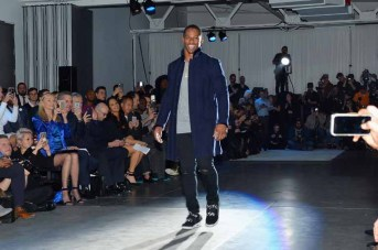 Victor Cruz== The Blue Jacket Fashion Show to Benefit the Prostate Cancer Foundation== Pier 59 Studios, NYC== February 1, 2017== ©Patrick McMullan== photo - Patrick McMullan/PMC== == Eric West