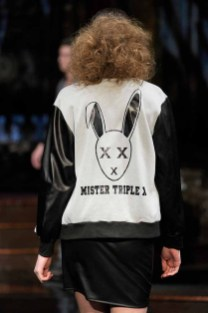 NEW YORK, NY - FEBRUARY 10: A model walks the runway during Mister Triple X at New York Fashion Week Art Hearts Fashion NYFW FW/17 at The Angel Orensanz Foundation on February 10, 2017 in New York City. (Photo by Arun Nevader/Getty Images for Art Hearts Fashion)