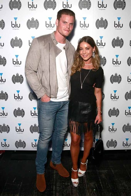 LONDON, ENGLAND - APRIL 21: Louise Thompson (R) and Ryan Libbey attend the launch night of the new partnership between blu, e-vaping pioneers, and Ministry of Sound at the flagship London club on April 21, 2017 in London, England. (Photo by John Phillips/John Phillips/Getty Images for blu) *** Local Caption *** Louise Thompson; Ryan Libbey