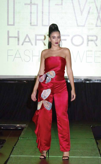 A design from Theo's of Hartford at Hartford Fashion Week last October. (MIKE CHAIKEN PHOTO)