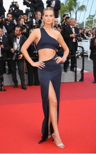 """CANNES, FRANCE - MAY 24: Toni Garrn attends the """"The Beguiled"""" screening during the 70th annual Cannes Film Festival at Palais des Festivals on May 24, 2017 in Cannes, France. (Photo by Chris Jackson/Getty Images)"""
