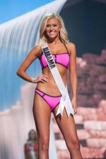 Baylee Smith, Miss Alabama USA 2017, competes on stage in Yandy Swim during the MISS USA® Preliminary Competition at Mandalay Bay Convention Center on May 11, 2017. The Miss USA contestants have been touring, filming, rehearsing and preparing to compete for the Miss USA crown in Las Vegas, Nevada. Tune in to the FOX telecast at 8:00 PM ET live/PT tape-delayed on Sunday, May 14, from Mandalay Bay Resort and Casino Las Vegas to see who will become Miss USA. HO/The Miss Universe Organization
