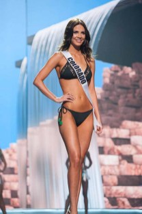 Sabrina Janssen, Miss Colorado USA 2017, competes on stage in Yandy Swim during the MISS USA® Preliminary Competition at Mandalay Bay Convention Center on May 11, 2017. The Miss USA contestants have been touring, filming, rehearsing and preparing to compete for the Miss USA crown in Las Vegas, Nevada. Tune in to the FOX telecast at 8:00 PM ET live/PT tape-delayed on Sunday, May 14, from Mandalay Bay Resort and Casino Las Vegas to see who will become Miss USA. HO/The Miss Universe Organization
