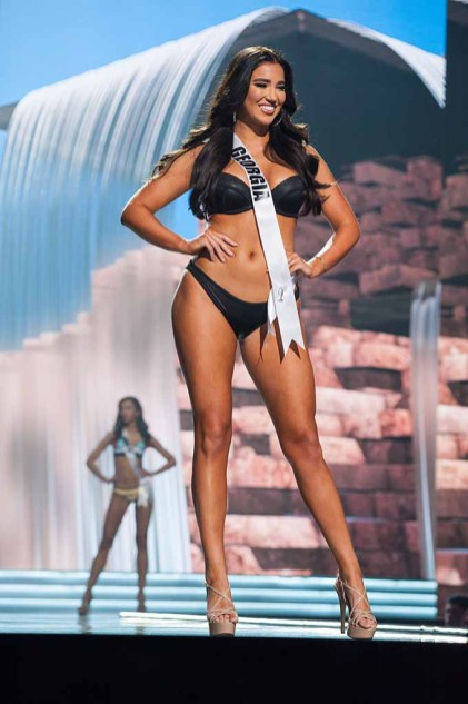 DeAnna Johnson, Miss Georgia USA 2017, competes on stage in Yandy Swim during the MISS USA® Preliminary Competition at Mandalay Bay Convention Center on May 11, 2017. The Miss USA contestants have been touring, filming, rehearsing and preparing to compete for the Miss USA crown in Las Vegas, Nevada. Tune in to the FOX telecast at 8:00 PM ET live/PT tape-delayed on Sunday, May 14, from Mandalay Bay Resort and Casino Las Vegas to see who will become Miss USA. HO/The Miss Universe Organization