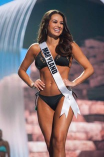 Adrianna David, Miss Maryland USA 2017, competes on stage in Yandy Swim during the MISS USA® Preliminary Competition at Mandalay Bay Convention Center on May 11, 2017. The Miss USA contestants have been touring, filming, rehearsing and preparing to compete for the Miss USA crown in Las Vegas, Nevada. Tune in to the FOX telecast at 8:00 PM ET live/PT tape-delayed on Sunday, May 14, from Mandalay Bay Resort and Casino Las Vegas to see who will become Miss USA. HO/The Miss Universe Organization