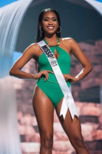 Bayleigh Dayton, Miss Missouri USA 2017, competes on stage in Yandy Swim during the MISS USA® Preliminary Competition at Mandalay Bay Convention Center on May 11, 2017. The Miss USA contestants have been touring, filming, rehearsing and preparing to compete for the Miss USA crown in Las Vegas, Nevada. Tune in to the FOX telecast at 8:00 PM ET live/PT tape-delayed on Sunday, May 14, from Mandalay Bay Resort and Casino Las Vegas to see who will become Miss USA. HO/The Miss Universe Organization