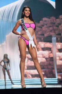 Chhavi Verg, Miss New Jersey USA 2017, competes on stage in Yandy Swim during the MISS USA® Preliminary Competition at Mandalay Bay Convention Center on May 11, 2017. The Miss USA contestants have been touring, filming, rehearsing and preparing to compete for the Miss USA crown in Las Vegas, Nevada. Tune in to the FOX telecast at 8:00 PM ET live/PT tape-delayed on Sunday, May 14, from Mandalay Bay Resort and Casino Las Vegas to see who will become Miss USA. HO/The Miss Universe Organization