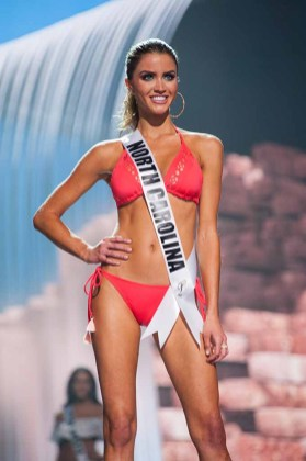 Kaitlin Coble, Miss North Carolina USA 2017, competes on stage in Yandy Swim during the MISS USA® Preliminary Competition at Mandalay Bay Convention Center on May 11, 2017. The Miss USA contestants have been touring, filming, rehearsing and preparing to compete for the Miss USA crown in Las Vegas, Nevada. Tune in to the FOX telecast at 8:00 PM ET live/PT tape-delayed on Sunday, May 14, from Mandalay Bay Resort and Casino Las Vegas to see who will become Miss USA. HO/The Miss Universe Organization