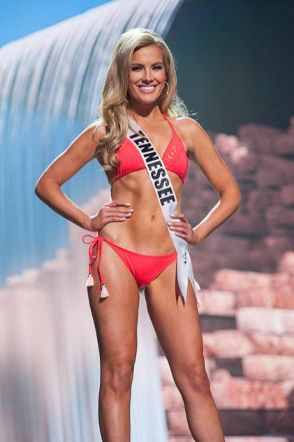 Alee-Sutton Hethcoat, Miss Tennessee USA 2017, competes on stage in Yandy Swim during the MISS USA® Preliminary Competition at Mandalay Bay Convention Center on May 11, 2017. The Miss USA contestants have been touring, filming, rehearsing and preparing to compete for the Miss USA crown in Las Vegas, Nevada. Tune in to the FOX telecast at 8:00 PM ET live/PT tape-delayed on Sunday, May 14, from Mandalay Bay Resort and Casino Las Vegas to see who will become Miss USA. HO/The Miss Universe Organization