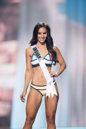 Brittany Winchester, Miss Indiana USA 2017, competes on stage in Yandy Swim during the MISS USA® Preliminary Competition at Mandalay Bay Convention Center on May 11, 2017. The Miss USA contestants have been touring, filming, rehearsing and preparing to compete for the Miss USA crown in Las Vegas, Nevada. Tune in to the FOX telecast at 8:00 PM ET live/PT tape-delayed on Sunday, May 14, from Mandalay Bay Resort and Casino Las Vegas to see who will become Miss USA. HO/The Miss Universe Organization
