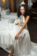 The newly crowned Miss USA 2017, Kára McCullough, representing District of Columbia takes a quick break after the conclusion of the two-hour special programming event on FOX from the Mandalay Bay Resort and Casino on Sunday, May 14. The new winner will move to New York City where she will live during her reign and become a spokesperson for various causes alongside The Miss Universe Organization. HO/The Miss Universe Organization