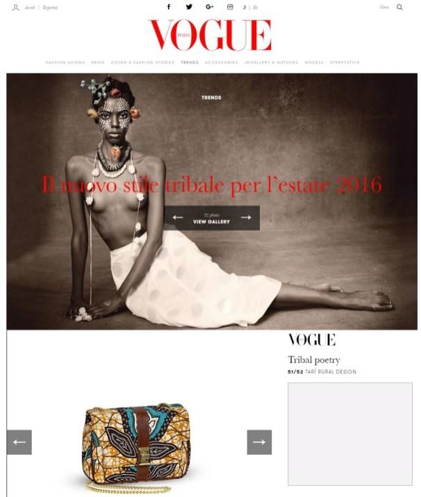 Vogue italia - Tari Rural Design Bag