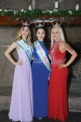 The new Teen Miss Southington's Carson Stifel, left, and Kaylee Brennan, right, with their predecessor Katerina Belales.