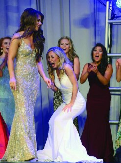 Eliza Lynne Kanner learns she is the new Miss Connecticut.
