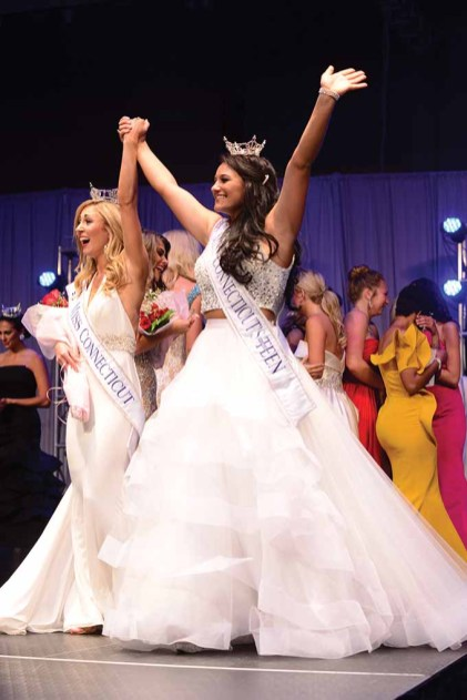 Miss Connecticut Eliza Kanner, left, and Miss Connecticut's Outstanding Teen Brooke Cyr.