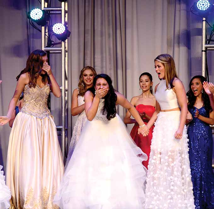 Brooke Cyr learns she won Miss Connecticut's Outstanding Teen.