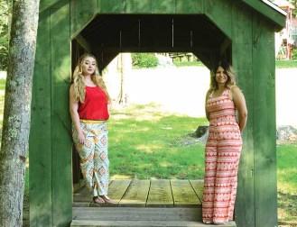Rhiannon Carta, left, and Melanie McKinley wear Altered Destiny.