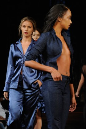 NEW YORK, NY - SEPTEMBER 07: Models walk the runway for Datari Austin Fashion Show at Art Hearts Fashion SS/18 at The Angel Orensanz Foundation on September 7, 2017 in New York City. (Photo by Arun Nevader/Getty Images for Art Hearts Fashion)