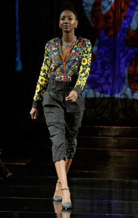 NEW YORK, NY - SEPTEMBER 08: A model walks the runway for Burning Guitars Clothing at New York Fashion Week NYFW Art Hearts Fashion SS/18 at The Angel Orensanz Foundation on September 8, 2017 in New York City. (Photo by Arun Nevader/Getty Images for Art Hearts Fashion)