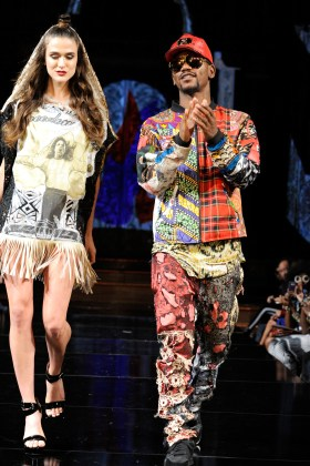 NEW YORK, NY - SEPTEMBER 08: Fashion Designer Saiyd Muhammed walks the runway for Burning Guitars Clothing at New York Fashion Week NYFW Art Hearts Fashion SS/18 at The Angel Orensanz Foundation on September 8, 2017 in New York City. (Photo by Arun Nevader/Getty Images for Art Hearts Fashion)