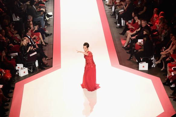 NEW YORK, NY - FEBRUARY 08: Recording artist Lea Salonga walks the runway during the American Heart Association's Go Red For Women Red Dress Collection 2018 presented by Macy's at Hammerstein Ballroom on February 8, 2018 in New York City. (Photo by Michael Loccisano/Getty Images for AHA) *** Local Caption *** Lea Salonga