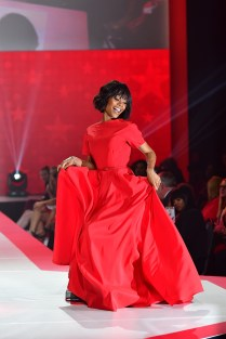 NEW YORK, NY - FEBRUARY 08: TV personality Zuri Hall walks the runway during the American Heart Association's Go Red For Women Red Dress Collection 2018 presented by Macy's at Hammerstein Ballroom on February 8, 2018 in New York City. (Photo by Slaven Vlasic/Getty Images for AHA) *** Local Caption *** Zuri Hall