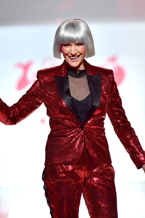 NEW YORK, NY - FEBRUARY 08: Model Maye Musk on stage at the American Heart Association's Go Red For Women Red Dress Collection 2018 presented by Macy's at Hammerstein Ballroom on February 8, 2018 in New York City. (Photo by Slaven Vlasic/Getty Images for AHA) *** Local Caption *** Maye Musk