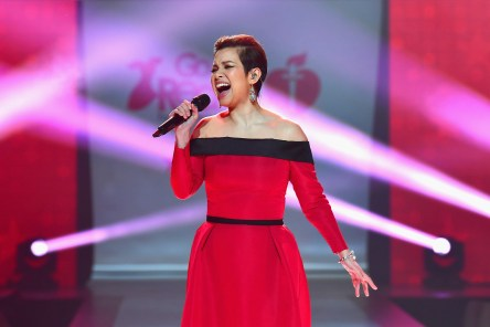 NEW YORK, NY - FEBRUARY 08: Recording artist Lea Salonga on stage at the American Heart Association's Go Red For Women Red Dress Collection 2018 presented by Macy's at Hammerstein Ballroom on February 8, 2018 in New York City. (Photo by Slaven Vlasic/Getty Images for AHA) *** Local Caption *** Lea Salonga