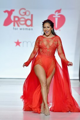 NEW YORK, NY - FEBRUARY 08: Actor Adrienne Houghton onstage at the American Heart Association's Go Red For Women Red Dress Collection 2018 presented by Macy's at Hammerstein Ballroom on February 8, 2018 in New York City. (Photo by Slaven Vlasic/Getty Images for AHA) *** Local Caption *** Adrienne Bailon