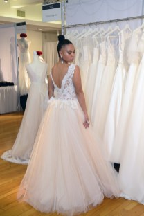 A bridal gown from Iryna Kopatska at The Knot Couture.