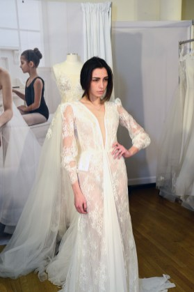 A gown from Olympia Bridal Couture at The Knot Couture.