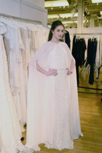 A bridal gown from Lotus Threads at The Knot Couture.