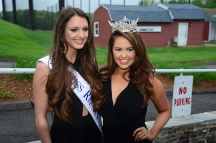 Miss Rhode Island Alexandra Coppa, left, with Miss America Cara Mund.