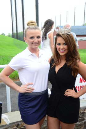 Miss Bristol Tori Lemme, left, with Miss America Cara Mund.